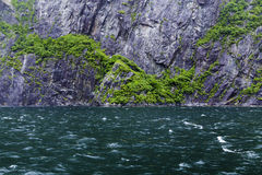 Waterfalls in Fiordland, southern New Zealand Stock Image