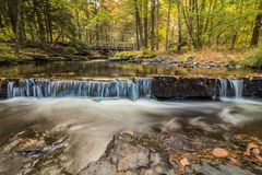 Beautiful calming waterfalls in Autumn Royalty Free Stock Photo