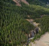 Waterfalls in the forest, Canadian Rockies Royalty Free Stock Image