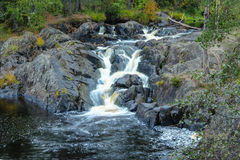 Waterfalls in the forest, karelia, ruskeala Royalty Free Stock Photography