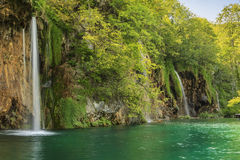 Waterfalls in the forest,Plitvice National Park,Croatia,Europe Royalty Free Stock Image