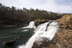 Waterfalls at Fort Payne Royalty Free Stock Photos