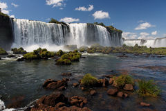 Waterfalls in Foz do Iguassu Brazil Stock Image