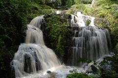 Waterfalls. In france as background Royalty Free Stock Photo