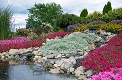 Waterfalls in garden royalty free stock image