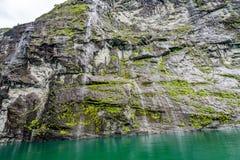 Waterfalls at Geiranger Fjord Stock Image