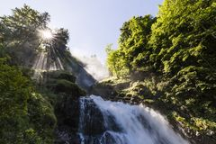 Famous Waterfalls Giessbach in the Bernese Oberland, Switzerland Stock Image