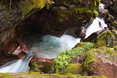 Waterfalls in Glacier National Park Royalty Free Stock Images