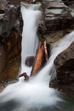 Waterfalls in Glacier National Park Royalty Free Stock Photo