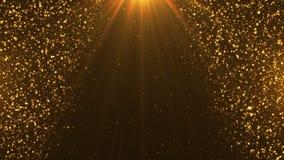 Golden Stars on Black background royalty free illustration