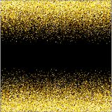 Waterfalls golden glitter sparkle-bubbles champagne particles stars black background happy new year holiday concept. royalty free illustration