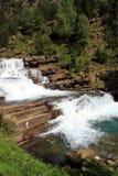 Waterfalls Gradas de Soaso en parc d'Ordesa Images libres de droits