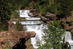 Waterfalls Gradas de Soaso en parc d'Ordesa Photographie stock
