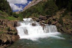 Waterfalls Gradas de Soaso en parc d'Ordesa Photo libre de droits