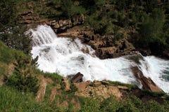Waterfalls Gradas de Soaso en parc d'Ordesa Photos libres de droits
