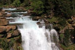 Waterfalls Gradas de Soaso en parc d'Ordesa Photo stock