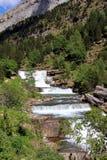 Waterfalls Gradas de Soaso in Ordesa Park Royalty Free Stock Photos