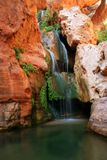 Waterfalls in Grand Canyon side canyon. Elves Chasm in Grand Canyon Royalty Free Stock Images
