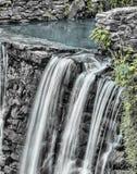 Waterfalls and Gray Stone Near Green Grass Royalty Free Stock Photo