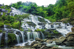 Waterfalls in green nature Royalty Free Stock Images