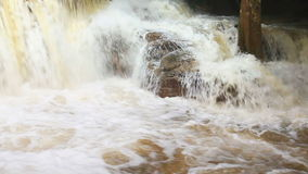 Waterfalls after heavy rain stock video footage