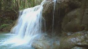 Waterfalls Huay Mae Kamin stock footage