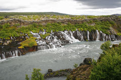 Waterfalls in Iceland Royalty Free Stock Photos