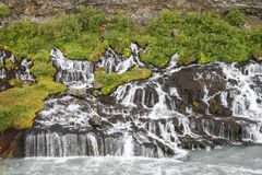 Waterfalls in Iceland Stock Image