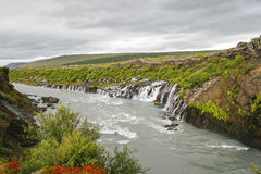 Waterfalls in Iceland Stock Photo