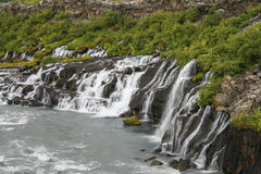 Waterfalls in Iceland Royalty Free Stock Images