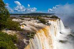 Waterfalls. Iguassu Falls in Brazil Stock Photography