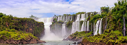 Waterfalls on Iguasu. Waterfalls_Left to Right_1 San San Martin,2 Salto Mbigua,3 Salto Gpque Bernabe Mendez Stock Image