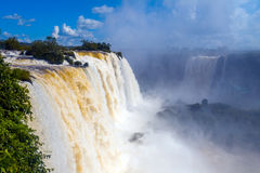 Waterfalls. Iguazu Falls in Brazil Royalty Free Stock Image