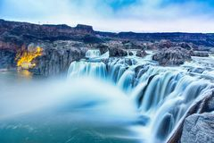 Free Waterfalls In Blue Hour Royalty Free Stock Photos - 144599648