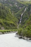 Waterfalls In Lowe River Canyon Stock Photos