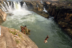 Waterfalls in India Stock Photography