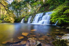 Waterfalls in an isolated valley Royalty Free Stock Photos