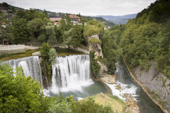 Waterfalls in Jajce, BiH Stock Images