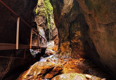 Waterfalls Janosikove Diery In Slovakia Stock Image