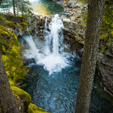 Waterfalls in Johnston Canyon of Banff Stock Photography