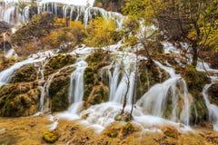Waterfalls in Juizhaigou National Park Stock Image