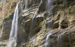 Waterfalls in Kabardino-Balkaria on the mountain river Chegem Royalty Free Stock Images
