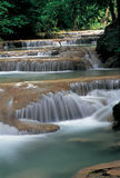 Waterfalls in Kanchanaburi, Thailand Royalty Free Stock Image