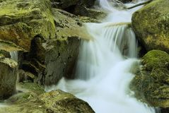 Waterfalls in Karpacz. Region in Karkonosze Mountains (Poland Royalty Free Stock Photo