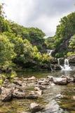 Waterfalls in Kipahulu, Maui Stock Images