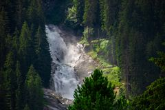 Waterfalls of krimml/austria stock photo