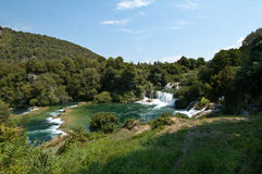 The waterfalls of Krka Royalty Free Stock Images