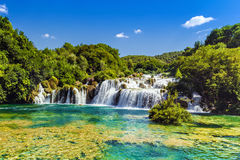 Waterfalls Krka, Croatia Royalty Free Stock Images