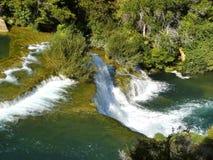 Waterfalls in Krka National Park Stock Photos