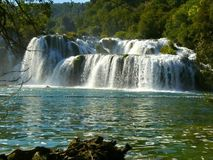 Waterfalls in Krka National Park Royalty Free Stock Photography